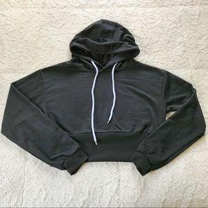 Tops - Cropped Black Hoodie